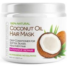 Pur Masque Naturals Body Coconut Hair Oil, 8,8 oz