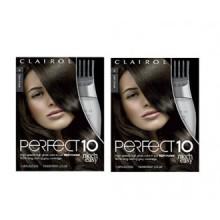 Clairol Perfect 10 par Nice 'N Easy Couleur des cheveux brun foncé 004 1 Kit (Pack de 2)
