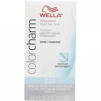 WELLA Couleur Charm Permanent Liquid Hair Toner T18 (léger AshBlonde) 1,4 fl oz