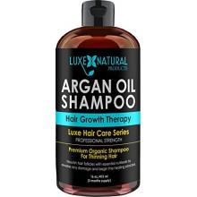 Luxe Natural Products Huile d'Argan Shampoo Strength Professional - Thérapie de croissance des cheveux 16 oz - Perte de cheveux,