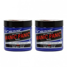 "Manic Panic Semi-Permanent Hair Color Cream BAD BOY BLUE 4 oz ""Pack of 2"""