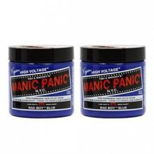 """Manic Panic semi-permanent Couleur des cheveux Crème BAD BOY BLEU 4 oz """"Paquet de 2"""""""