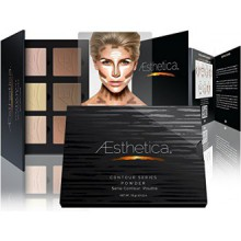 Aesthetica Cosmetics Contour et surlignage Powder Palette Foundation / Maquillage contournage Kit- facile à suivre,