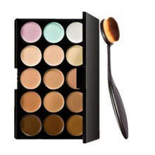 Démarrer 15 couleurs Concealer Eye Kit palette d'ombre et maquillage Toothbrush Curve Brush