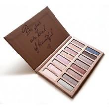 Meilleur Pro Eyeshadow Palette Maquillage - Matte + Shimmer 16 couleurs - très pigmentée - Nudes professionnels Bronze naturel c