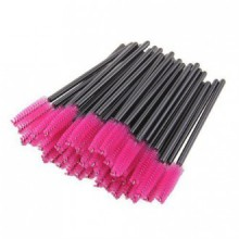 Smilesun Disposable Eyelash Eye Lash Makeup Brush Mascara Wands Applicator Makeup Kits (100PCS Pink)