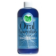 Oral Essentials Teeth Whitening Mouthwash 16 Oz. For Daily Use Without Sensitivity: Dentist Formulated & Certified