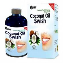 Tirando de aceite de coco y enjuague bucal: Excelente para blanquear los dientes, la boca seca, y Desintoxicación Oral - ayuda a
