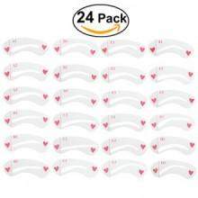 NUOLUX 8 Sets Sourcils Pochoirs Sourcils Grooming Stencil Kit Shaping Modèles de bricolage Outils-24 pcs
