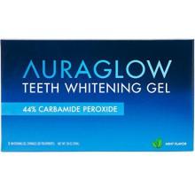 Dientes que blanquean el gel AuraGlow Jeringa paquete de recambio, el 44% de peróxido de carbamida, (3x) Jeringas de 5 ml, 30 +