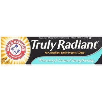 ARM & HAMMER Truly Radiant Whitening & Enamel Strengthening Toothpaste Fresh Mint 4.3oz - 2 Pack