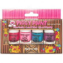 Piggy Paint Nail Polish - 4 Bottle Box - Non toxique