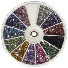 350Buy diamantes de imitación 2400 pieza 12 del color del arte del clavo de manicura Nail Ruedas