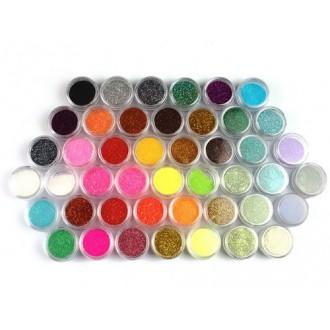 45 Colors Nail Art Make Up Body Glitter Shimmer Dust Powder Decoration
