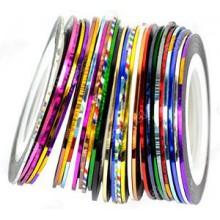 30pcs colores mezclados Rolls trazado de calidad de la cinta del arte del clavo de la decoración de parachoques Y2B