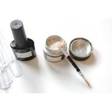 Chrome Poudre pure, Magic Powder, Miroir poudre KIT d'argent pour Nails