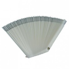 50 Pcs White Fan-shaped False Fake Nail Art Tips Sticks Polish Gel Salon Display Chart Practice Tool