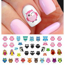 Owl Assortment Nail Art Waterslide Decals Set Number 1 - Salon Quality!