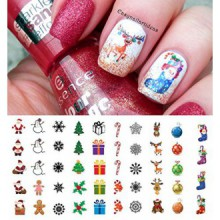 "Vacances de Noël Assortiment Water Slide Nail Art Stickers - Salon Qualité 5.5 Fiche ""X 3""!"