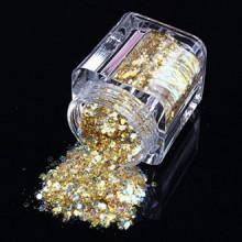 ECBASKET Nouvelle arrivée Glizty Nail Powder Dust Nail DIY Glitter tranches d'or