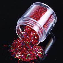 ECBASKET Nouvelle arrivée Glizty Nail Powder Dust Nail DIY Glitter tranches Multy Formes tranches Rouge