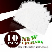 Yao Shun 10 feuilles Faux ongles Conseils Adhesive Colle Double-Sided clairs Stickers Tape Nail Art Patch Autocollant Faux ongle