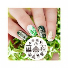 Né Jolie Xmas Christmas Theme Nail Art Stamping Plate Image 01