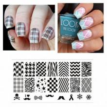 Né Jolie Nail Art Stamp Template Plate Image sélectionnée Patterns classiques BP-L006