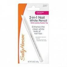 Sally Hansen 2-in-1 Nail Blanc Crayon avec cuticules Pusher - 0.03 oz