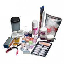 AMA(TM) 19 Acrylic Nail Art Tips Powder Liquid Brush Glitter Clipper Primer File Set Kit Manicure Salon Tips Decoration