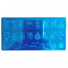 Nail Art ! AMA(TM) Christmas DIY Nail Art Image Stamp Stamping Plates Manicure Template (C)