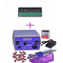 Belle Electric Nail Drill Machine 30,000RPM 110V File Art Bits Gel Salon Tool Polish + 30 Piece Manicure Pedicure