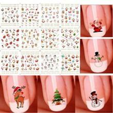 Bhbuy Halloween Noël Nail Art Stickers Snowflakes Autocollants ongles Bonhommes Mignon 3D