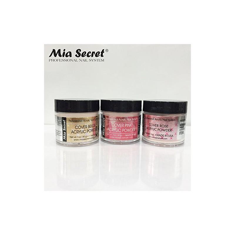 MIA Secreto cubierta de polvo 3 Pc Set - Rosa / Beige / Rosa 1.0