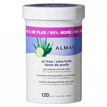Almay Oil Eye gratuit PADS Makeup Remover, 120 Count