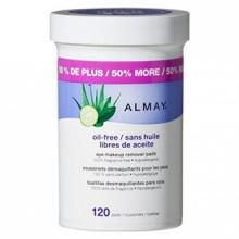Almay Oil Eye gratuit PADS Makeup Remover, 120 Count