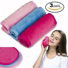 Démaquillant Cloth 3 Pack - Chemical gratuit, Déplacer maquillage instantanément avec juste l'eau, réutilisable serviette nettoy