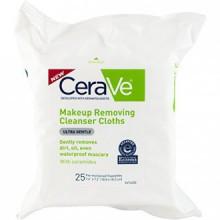 Maquillage CeraVe Retrait Cleanser Chiffons, 25 Count
