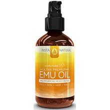 InstaNatural l'huile d'émeu - Hydratant pure pour cheveux renforcée, vergetures, cicatrices, articulations et douleurs musculair