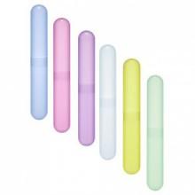 Bluecell Paquet de 6 Brosse à dents Case Different plastique Couleur / Support pour une utilisation quotidienne et Voyage