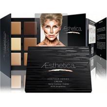 Aesthetica Cosmetics Crème Contour et mise en évidence Kit de maquillage - Contournage Fondation Palette / Concealer - Vegan, Cr