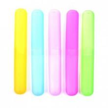 Kloud Ville ® Paquet de 5 Différent en plastique couleur Case brosse à dents / Support pour utilisation Voyage (style ONE)
