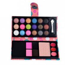 Palette de maquillage 26Colors cosmétiques fard à paupières Blush Poudre Lip Gloss (Rose)
