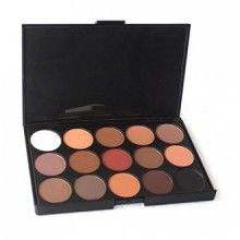15 Palette de fard à paupières Couleur Matte Pigment Maquillage Cosmetic Eye Shadow pour les femmes