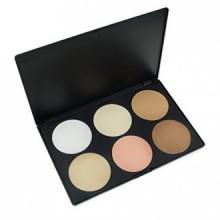Cosmétiques professionnels 6 couleurs Palette Maquillage Contour Fondation Visage Puissance