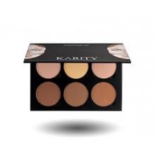 Kit Contour - 6 pigmenté Professional Contour Kit Palette de maquillage Set Palette Pro haut de gamme Formula (Highlight & C