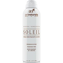 Art Naturals SPF 30 Broad Spectrum Sunscreen Spray 6 oz -Water Resistant 80 Minutes - With the best Natural & Organic