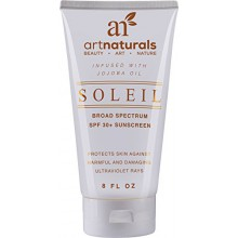 Art Naturals Organic SPF 30 Broad Spectrum Sunscreen - Infused Jojoba Oil, 6 oz