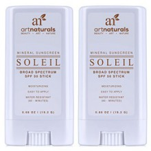 Art Naturals SPF 50 Sunscreen Stick 0.7 oz - Pack of 2 - Water Resistant 80 Minutes - With the best Natural & Organic