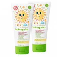 BabyGanics Mineral-Based Sunscreen Lotion pour bébés, SPF 50, 6 oz Tube (Pack de 2)